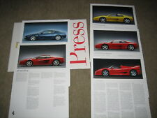 Ferrari press kit cartella stampa cartella 1995, 5x mappe immagine