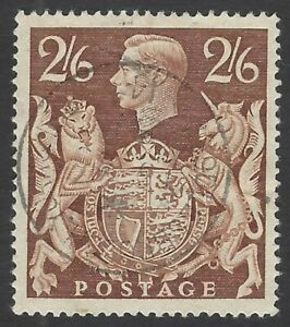 GB 1939 KGVI 2/6 brown very fine SON used