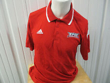 VINTAGE adidas FLORIDA ATLANTIC OWLS FOOTBALL LARGE POLO SHIRT TEAM ISSUED CLIMA
