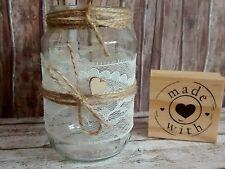 ♥10 kleine Windlichter Vasen Hochzeit Vintage Shabby Spitze Deko Hochzeitsdeko♥