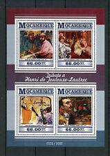 Mozambique 2015 MNH Henri de Toulouse-Lautrec 4v M/S Jane Avril Mr Boileau