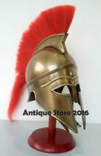 Medieval Greek Corinthian Armour Helmet With Red Plume Knight