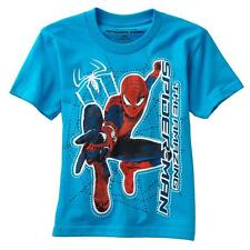 NEW AMAZING SPIDERMAN MARVEL SUPER HEROES SPIDER Short Sleeve Shirt Boys Size 7