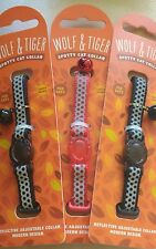 Wolf & Tiger Collection Spotty Reflective Cat Collar in  Black Colour