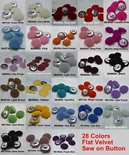 "Per 6 Pieces 1""inches / 25mm Flat Velvet Covered Dome Coat Jacket Sew On Button"