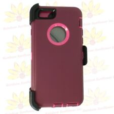 "Plum Pink For Apple iPhone 6S Plus (5.5"") Case w/ Clip fits Otterbox Defender"
