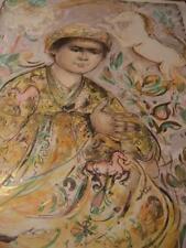 """Little Rajah and the Unicorns"" by Edna Hibel Handsigned COA gold embellishments"