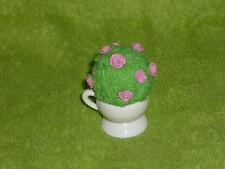 Fisher Price Loving Family Dollhouse Pink Rose Bush Plant in White Pot
