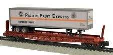 MTH 35-75052  S Pacific Fruit Express Flatcar with 48' Trailer (Smooth) #475205