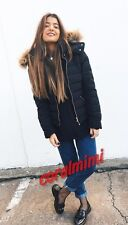 Zara NEW black WATER REPELLENT HOODED PUFFER COAT JACKET SIZE S