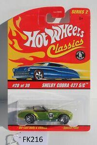 Hot wheels Classics Series 2 Shelby Cobra 427 S/C #20 of 30 FNQHotwheels FK216