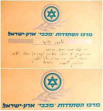 "1942 Palestine SPORT DIPLOMA Israel 60 METRES RUN Judaica ""MACCABI"" Championship"