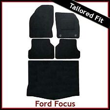 FORD FOCUS 5-Dr Hatchback Mk2 2004-2011 Tailored Carpet Car & Boot Mats BLACK