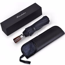 Travel Umbrella 10 Rib Windproof Waterproof Auto Open Close With Easy Carry Case