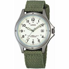 Lorus Sports Military Style Men's / Boys Watch - Fabric / Nylon / Leather Strap