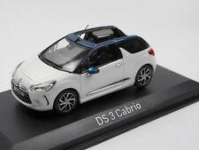 Norev 155298 - Citroen DS3 Cabriolet - 2015 - Nacré White / Emeraude 1:43