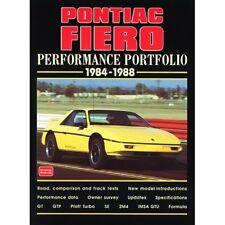 Pontiac Fiero Performance Portfolio 1984-1988 book paper