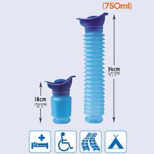 750ML Male Female Portable Urinal Travel Car Toilet Pee Bottle Emergency Kit