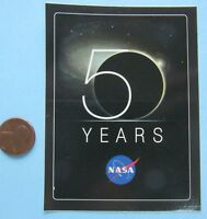 NASA STICKER vtg 50 YEARS Anniversary NASA LOGO Hubble Space Telescope Image M81
