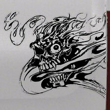 Flame Zombie Skull Graphic Tailgate Hood Window Decal Vehicle Truck Vinyl Car