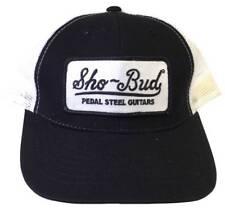 SHO-BUD Pedal Steel Guitars Logo Adult Trucker Hat Black/White OFFICIAL