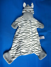 "16"" tall ZEBRA GREY WHITE comforter BABY SOOTHER soft hug toy SUKI ZOOMA BLANKIE"