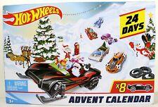 Hot Wheels Advent Calendar 2019 w/ Diecast Cars & Holiday Accessories