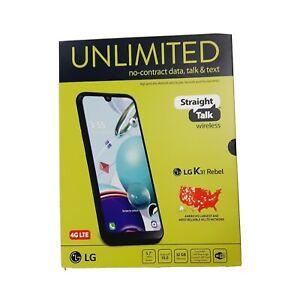 Brand New - LG K31 Rebel - 32GB Black STRAIGHT TALK Smartphone Dual 13MP NIB