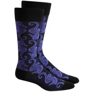Alfani Men's Seahorse Crew Pattern Dress Socks Size 7-12
