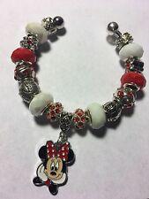 ON SALE***Minnie Mouse Bracelet With Disney Charm