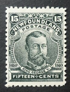 """NEWFOUNDLAND #97 VF H* """"KING GEORGE V"""" CAT.$100 CAN. SHIP $1.99  COMB. SHIPPING"""