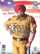 JO BOLE SO NIHAAL - SUNNY DEOL - BRAND NEW BOLLYWOOD DVD