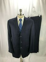 Loro Piana Men's Blue Pinstripe Wool Suit 44L 36 x 31