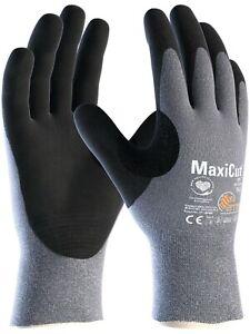 12 x MaxiCut Oil 44-504 Palm Coated KW Heavy Duty High Cut Protection Gloves