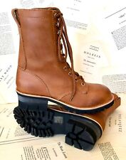 Jeffrey Campbell Free People Boot Brown Tan Leather Combat Moto Lace Up 8 NEW