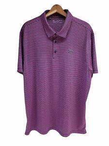 Under Armour Heat Gear Mens Short Sleeve Striped Polo Golf Shirt Loose Size 2XL