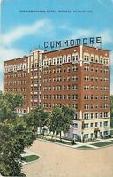 Wichita Kansas~Commodore Hotel~1944 Linen Postcard