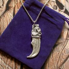 Viking Bear Claw Pendant Necklace & Gift Pouch, Norse Ladies Mens God Odin Thir