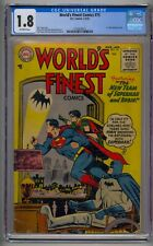 WORLD'S FINEST COMICS #75 CGC 1.8 1ST CODE APPROVED ISSUE