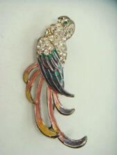 Vintage Exotic Rhinestone Parrot Bird Pin Brooch