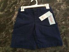 Cat & Jack Navy Flat Front School Uniform Shorts SIZE XS (4/5) Adjustable Waist