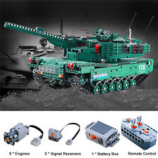 1:20 2.4G RC Battle Tank Building Blocks Kit DIY Toy Brick Tank Car Model Remote