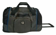 """Ful 21"""" Rolling Duffle Pull Behind Carry On Luggage Bag Blue Gray & Black"""
