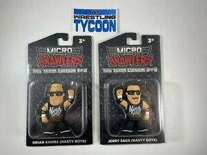 NASTY BOYS BRIAN KNOBBS JERRY SAGS Micro Brawler Pro Wrestling Crate WWE WWF