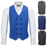 Men's Vintage Double Breasted WaistcoatFormal Tailored Fit Smart Casual Vest