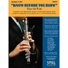 Know Before You Blow Blues For Flute Learn To Improvise Sheet Music Book CD S90