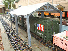 "2 Stall 22"" G-scale Freight Car Unloading Shed or Maintenance Shed Fits LGB Etc"