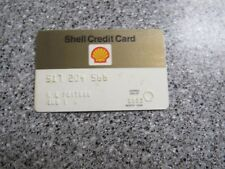 Vintage Gas Oil Credit Charge Card 1980'S SHELL OIL GREAT SHAPE PROP TRAVEL CARD