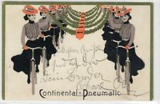 More details for continental - pneumatic: art nouveau bicycle tyres advertising postcard (c31437)
