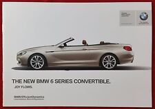 BMW 6 Series Convertible, 8 Page Promotional Brochure, Nov 2010
